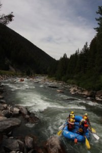 Maria Falvey white water rafting in Montana