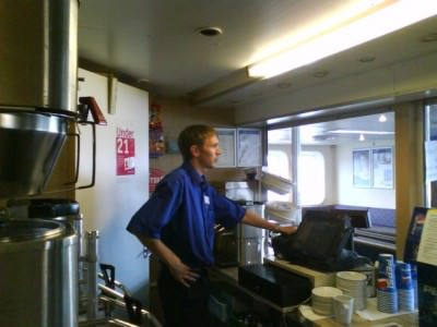 Jonny Blair on Wightlink ferries 2008