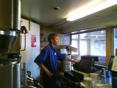 Jonny Blair on Wightlink ferries 2008