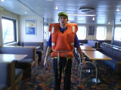 Lifejackets on the Wightlink Ferries Jonny Blair a lifestyle of travel