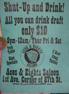 All you can drink in New York for $10