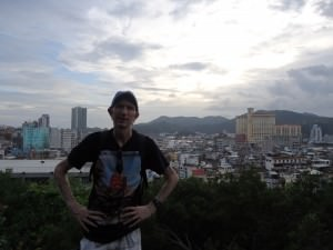 free view of macau skyline from the fortress