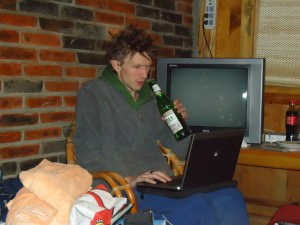 Beer and Blog in China Yunnan Mountains