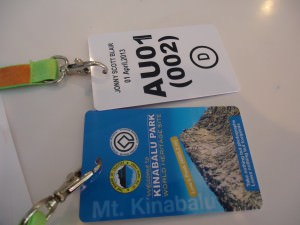 mountain hiking permit for mount kinabalu