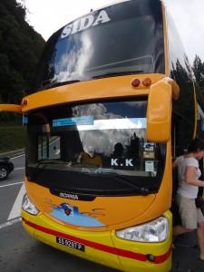 Bus from Mount Kinabalu to Kota Kinabalu