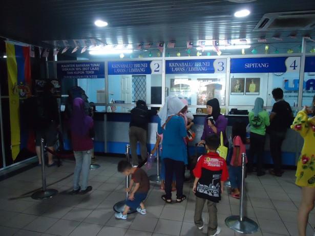 Labuan ferry terminal ticket office Malaysia