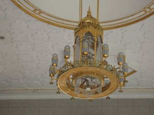 Chandelair in the Brunei massive Mosque