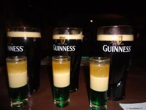 Guinness and Irish shots in Shamrock Irish Bar Kota Kinabalu