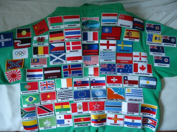 Collecting iron on flag country patches