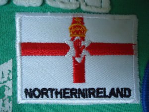 Northern Ireland flag patch iron on