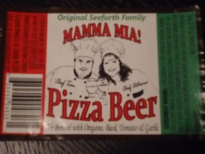 Pizza beer at Beertopia Hong Kong Mamma Mia