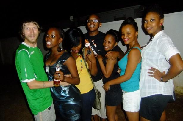 Jonny Blair partying in Gaborone Botswana