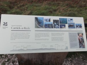 Carrick a rede rope bridge information board jonny blair