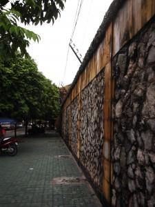corner and entrance to Hoa Lo prison the Hanoi Hilton