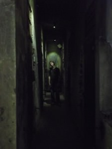walking through the death cells in the Hanoi Hilton Hoa Lo Prison