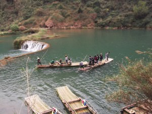 vintage chinese boats in Yunnan Province China