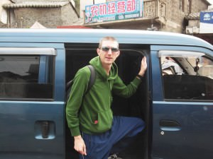 Jonny Blair in China Don't Stop Living a lifestyle of travel