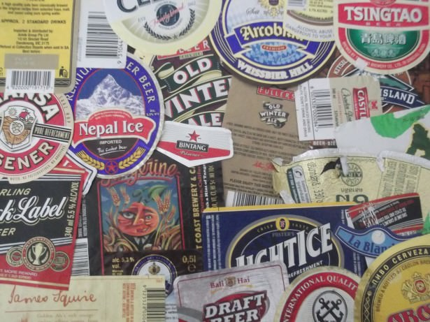 Travel collectables beer labels a lifestyle of travel