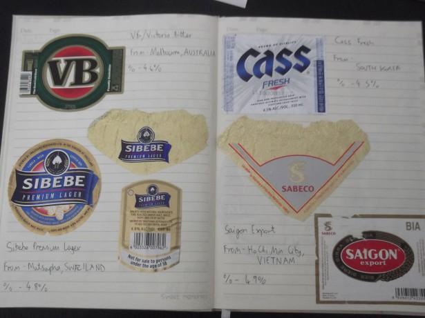 world beer labels scrapbook