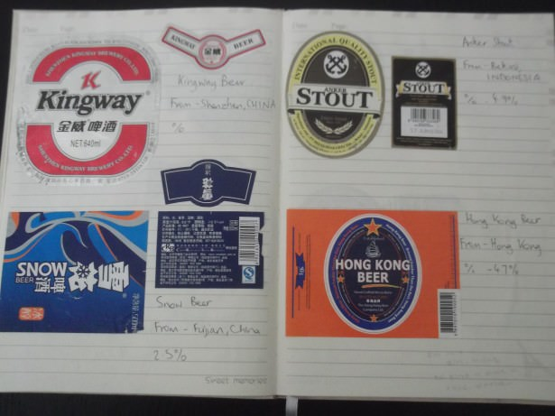 collecting beer labels from around the world