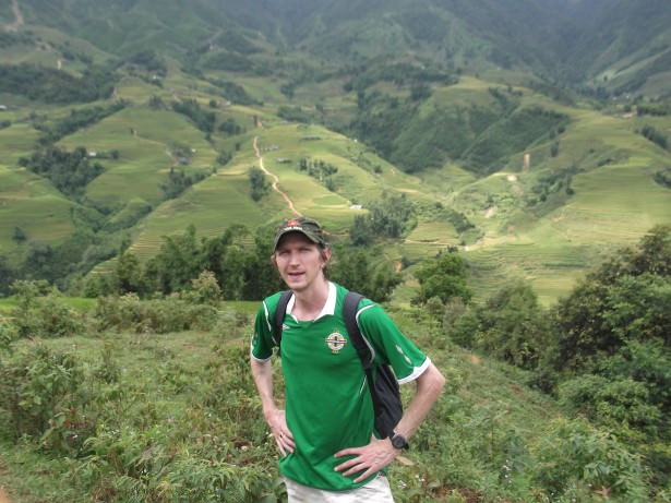 Jonny Blair of Dont Stop Living hiking in Sapa Vietnam
