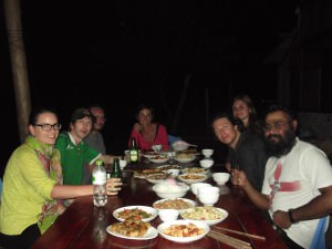 dinner in Ta Van homestay on sapa hike Vietnam