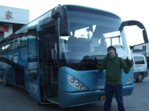 bus from Lijiang to Tiger Leaping Gorge