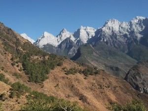 Mountains in Yunnan China