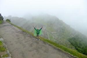Jonny Blair at Machu Picchu in Peru
