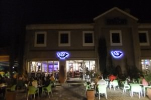drinking at the News Cafe in Gaborone Botswana
