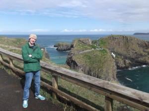 Jonny Blair at carrick a rede rope bridge