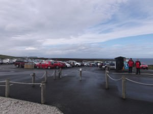 Car park at Carrick a rede rope bridge northern ireland