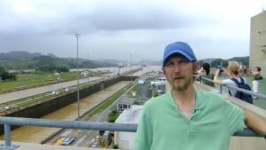 Jonny Blair touring Miraflores Locks Panama Canal