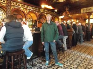 The Crown bar interior in Belfast Northern Ireland
