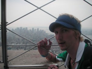 Loving life from the top of the Empire State Building NYC
