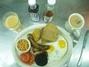 Take advantage of free breakfasts in hostels on your travels