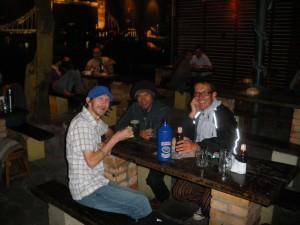 Drinking in Britannia Pub Asuncion Paraguay