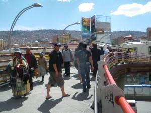 High altitude streets in La Paz Bolivia