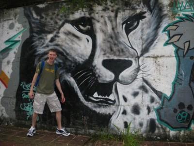 Leopard mural in Chiayi Taiwan Jonny Blair