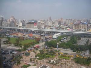 13th floor of hostel in Taipei Taiwan