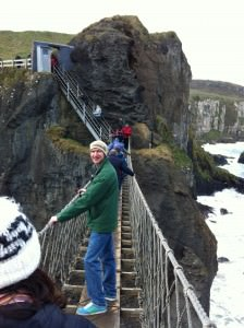 Jonny Blair on the carrick a rede rope bridge