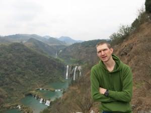 View of Jiulong Waterfalls Yunnan China