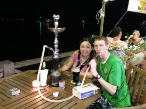 Smoking Shisha in Kota Kinabalu
