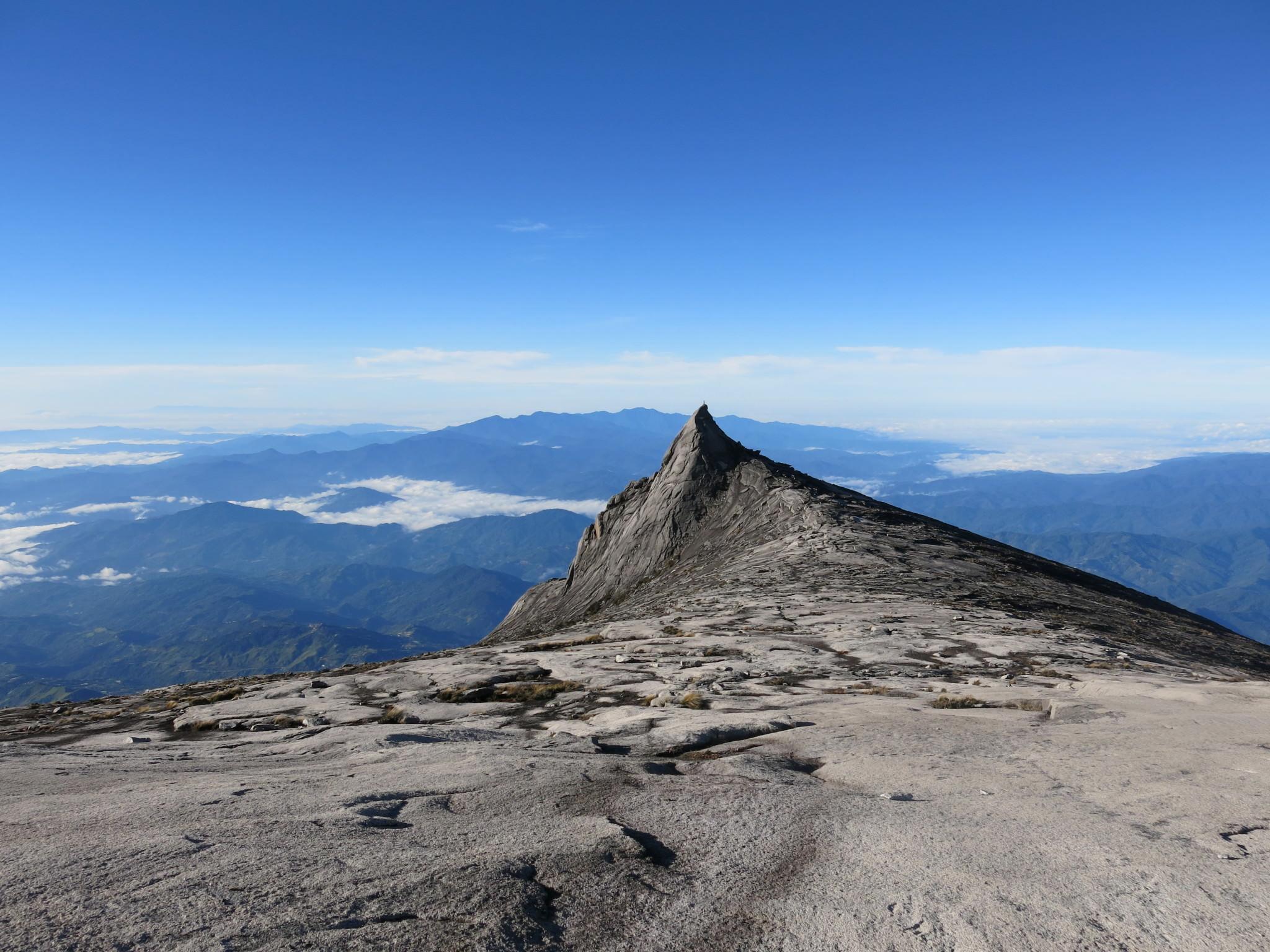 peak of Mount Kinabalu Borneo