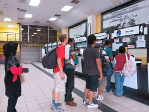 Jesselton Point ferry terminal buying tickets for brunei