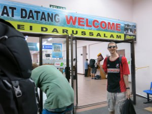 Arrival in Brunei Darussalam border thank you to immigration staff