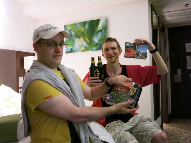 drinking beer in Brunei