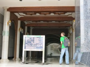 Jonny Blair living a lifestyle of travel at the largest Mosque in Brunei