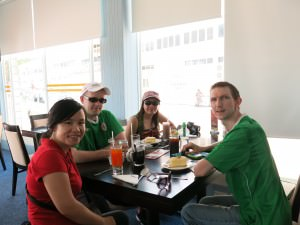 Relaxing at Dermaga Cafe in Bandar Seri Begawan
