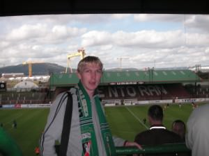 The Oval Glentoran FC Belfast Northern Ireland Jonny Blair a lifestyle of travel